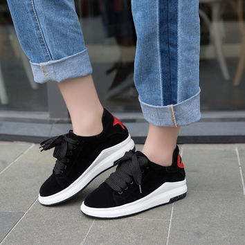 Casual Lace Up Color Block Women Sneakers Platform Shoes 8442