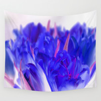 Blue Tulips Wall Tapestry by Aloke Design