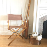 Wooden Directors Chair, Vintage Lawn Chair, Folding Dining Chair, Patio Furniture