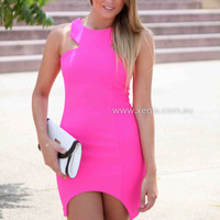 THE LOVE DRESS , DRESSES, TOPS, BOTTOMS, JACKETS & JUMPERS, ACCESSORIES, 50% OFF SALE, PRE ORDER, NEW ARRIVALS, PLAYSUIT, COLOUR, GIFT VOUCHER,,Pink,BODYCON,SLEEVELESS Australia, Queensland, Brisbane