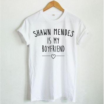 MDIGJ1A [SHAWN MENDES ebay] T-shirt fashion women's T-shirt