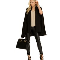 The Shay Black Cape Blazer