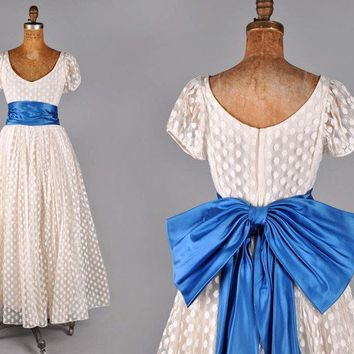 Vintage POLKA DOT TULLE WEDDING DRESS by IKAHN on Etsy