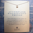 dogeared accomplish magnificent things starburst necklace, gold dipped
