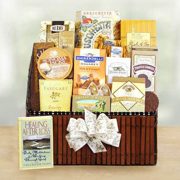 The Caring Condolences Sympathy Basket