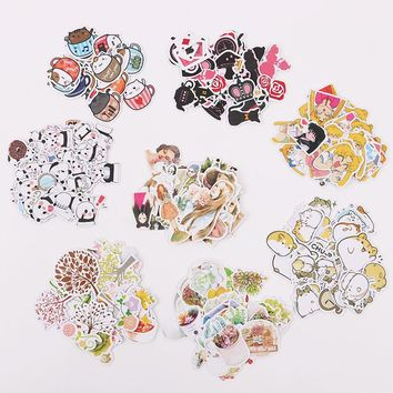 3 Sets DIY Kawaii Animal Paper Sticker Lovely Cat Stickers DIY Decoration Scrapbooking Diary Stationery Sticker for Child