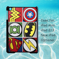 Super Hero Logo, for iPad case, iPad mini case, iPad 2 case, iPad 3 case, New iPad case, iPad cover, customizable, customized, handmade