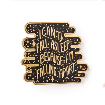 Can't Fall Asleep Enamel Pin