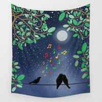 Moonlight Serenade Wall Tapestry by Tjc555