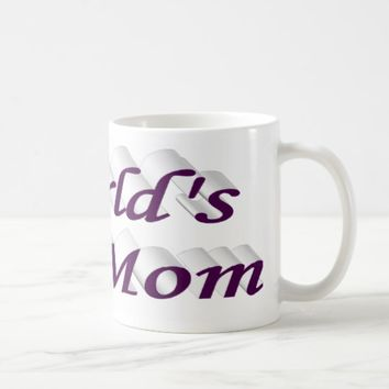 World's #1 Mom 3D Mug, Dark Violet Coffee Mug