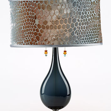 Maya by Susan Kinzig and Caryn Kinzig (Mixed-Media Table Lamp) | Artful Home