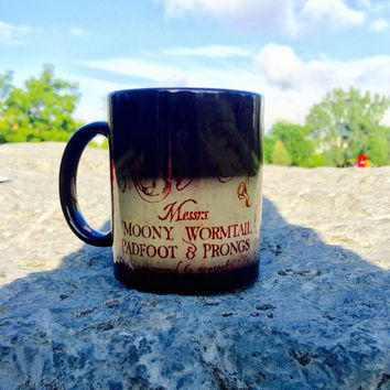 Color Changing Marauders Map Harry Potter Coffee Mug
