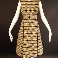 1970s Wool Knit Dress & Jacket Ensemble, Bust-36