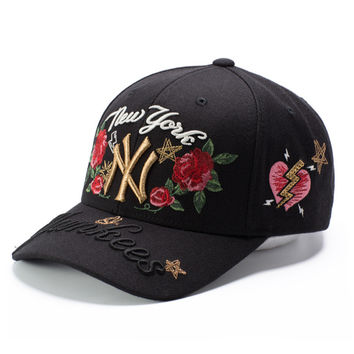 Diamonds Cap Summer Embroidery Baseball Cap [10522698695]