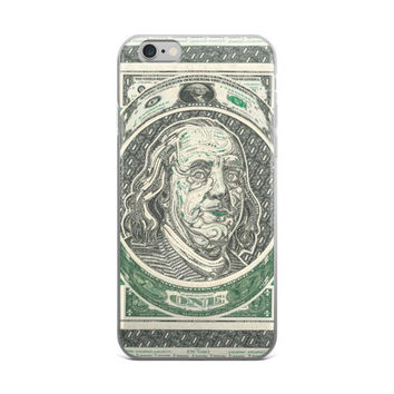 One Dollar Bill Art $1 Artistic American Money Painting iPhone 4 4s 5 5s 5C 6 6s 6 Plus 6s Plus 7 & 7 Plus Case