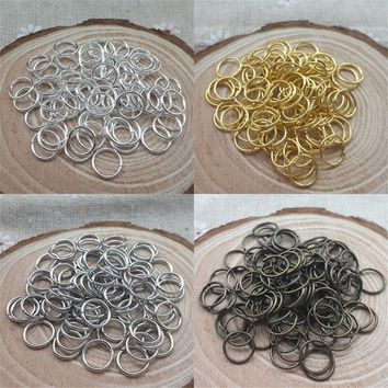 200Pcs/Lot Metal Jump Rings Key Chain Ring Accessories for DIY Jewelry Making Findings