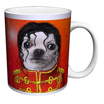Pets Rock Pop King Chihuahua Dog Novelty Humor Music Spoof Animal Art Ceramic Gift Coffee (Tea, Cocoa) 11 Oz. Mug
