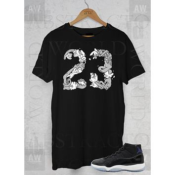 Air Jordan 11 Space Jam Sneakers Monstars Adult Unisex T Shirt