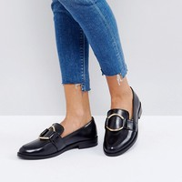 ASOS MAGENTA Leather Loafers at asos.com