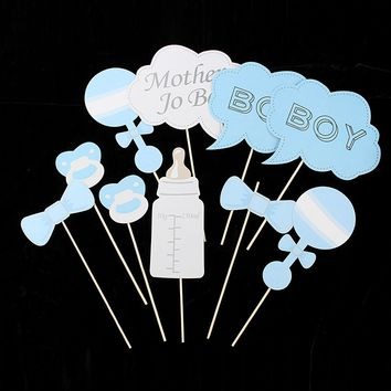 10pcs Baby Shower Photo Booth Props Party Girl & Boy Wedding Party Decoration