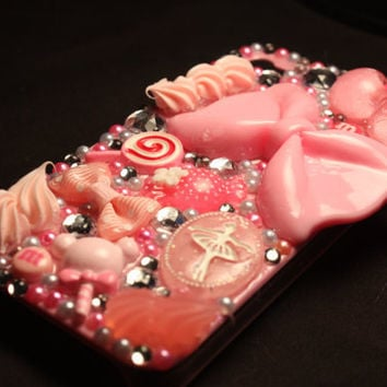 SWEETS Deco Iphone 4 / 4s Case by DeathwishDesign on Etsy