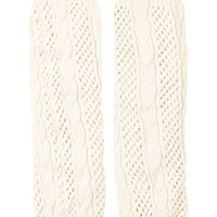 Cable Knit Leg Warmers - Ivory