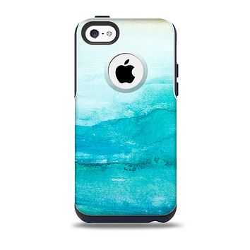 The Grungy Blue Watercolor Surface Skin for the iPhone 5c OtterBox Commuter Case