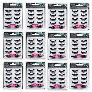 (60 Pairs) - Ardell Fashion Lashes- 5 Pairs/Pack 101 Demi - FREE APPLICATOR