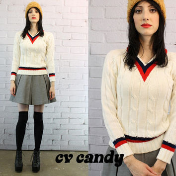 60s Campus Pull Over S / 1960s Campus Brand Sweatshirt / The Schoolboy Sweater