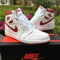 Air Jordan 1 Retro High OG Metallic Red AJ1 Sneakers