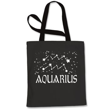 Aquarius Zodiac Star Chart  Shopping Tote Bag