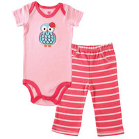 Hudson Baby Girls Bodysuit & Pant | Affordable Infant Clothing
