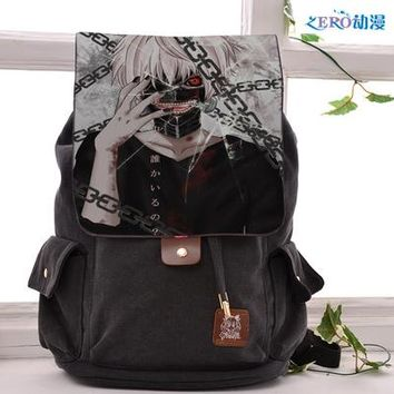 Anime Backpack School kawaii cute tokyo ghoul Cosplay Backpack Fashion casual large capacity Bags For Men Women School Bags AT_60_4