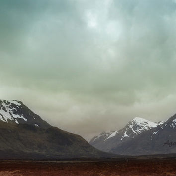 Scotland Photography Snow Capped Mountains, Landscape Photography, Buachaille Etive Mòr, Emerald Green Art, Travel, Adventure, Blue, Black