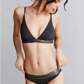 Calvin Klein Underwear CK One Triangle Bra in Black