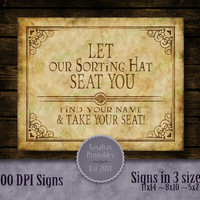 Let our Sorting Hat seat you Harry Potter by SasafrasPrintables