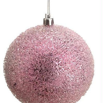 "Christmas Ball Ornament - 4 ""  - Pink"