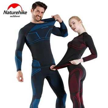 Naturehike Long Johns Winter Thermal Underwear Sets Men Women Sports Quick Dry Anti-microbial Stretch Thermo Underwear