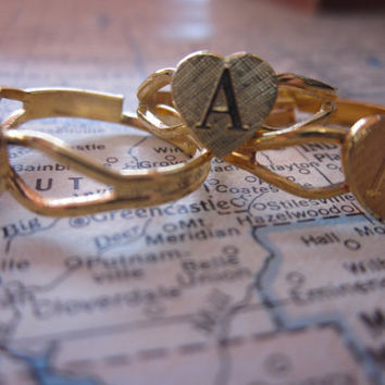 The Kristina Ring  Vintage Deadstock Initial Ring by SeizeTheNight