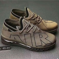 Nike Air Max Flair Women Men Casual Running Sport Shoes Sneakers Brown G-PSXY