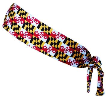 Maryland Flag Elastic Tie 2.25 Inch Headband