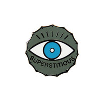 Superstitious Lapel Pin