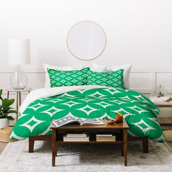 Holli Zollinger Emerald Diamonds Duvet Cover