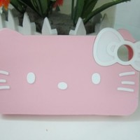 3d Bow Pink Hello Kitty Protective Case for Apple Iphone 4 and 4s(pink)