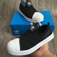"""Adidas"" Unisex Sport Casual Crisscross Bandage Cloth Sneakers Couple Shell Head Plate Shoes"