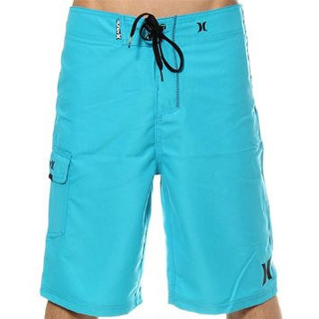 "Hurley Mens Cyan Blue One & Only Drawstring Boardshort Swimsuit Trunks 22"" Size 36"