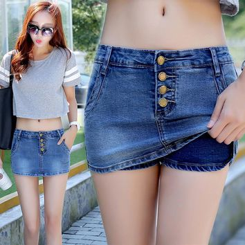 2019 New Summer Women Shorts Denim Jeans Blue Washed Mini Jeans Sexy High Waisted Denim Pants