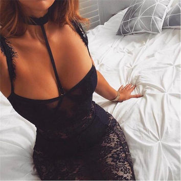 Little Black Lace Bustier Dress