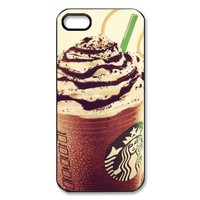 AZA Hard Case for iPhone 5, Starbucks Coffee Protective iPhone Cover-Black/White-Retail Packaging