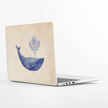 Damask Whale Laptop Skin